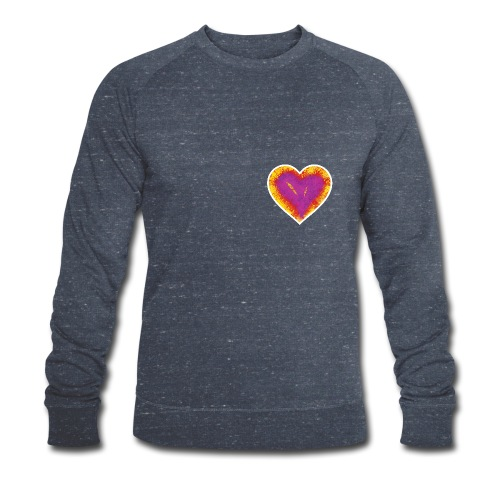 Stitched Heart - Men's Organic Sweatshirt