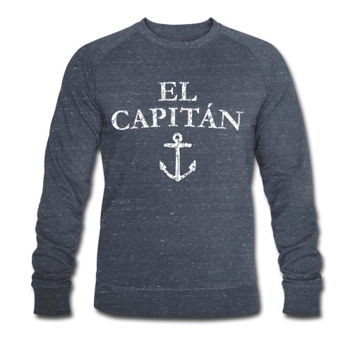 El Capitan Anker (Vintage Weiß) Kapitän Käpt'n - Männer Bio-Sweatshirt von Stanley & Stella