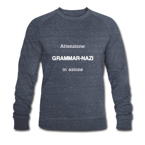 Attenzione: Grammar-nazi in azione - bianco - Felpa ecologica da uomo di Stanley & Stella