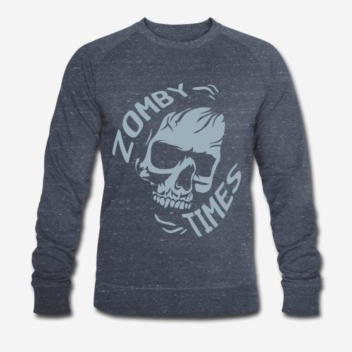 zomby zeiten ära zombie - Männer Bio-Sweatshirt