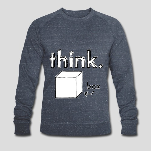 Think Outside The Box Illustration - Men's Organic Sweatshirt by Stanley & Stella
