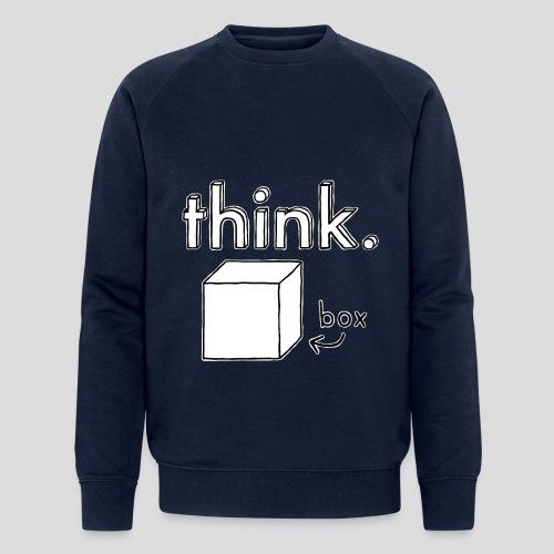 Think Outside The Box Illustration - Men's Organic Sweatshirt by Stanley & Stella
