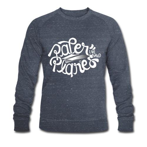 Paper Planes Logo Wit - Mannen bio sweatshirt van Stanley & Stella