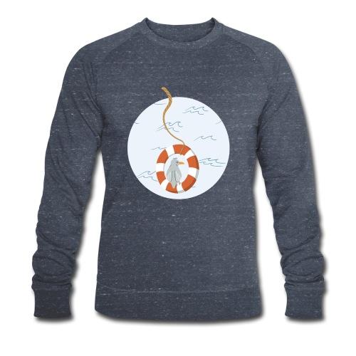 Möwe chillt im Rettungsring über dem Meer - Männer Bio-Sweatshirt von Stanley & Stella
