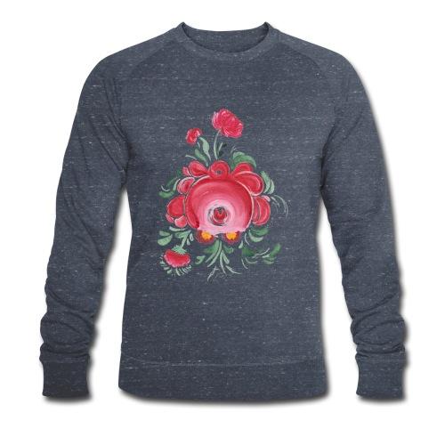 Ostfriesische Rose - Männer Bio-Sweatshirt von Stanley & Stella