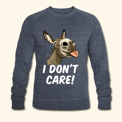 Ane I don't care! (texte blanc) - Sweat-shirt bio Stanley & Stella Homme