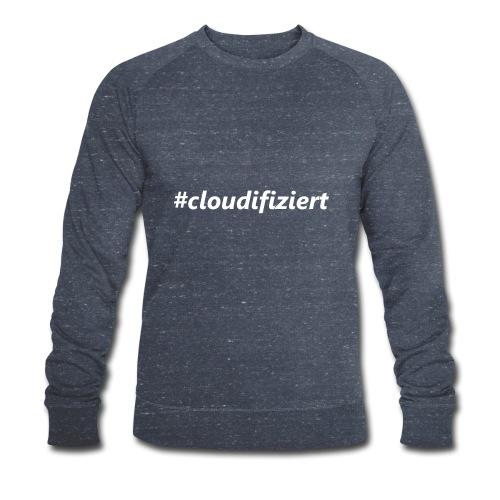 #Cloudifiziert white - Männer Bio-Sweatshirt von Stanley & Stella