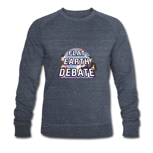 Flat Earth Debate Solid - Men's Organic Sweatshirt by Stanley & Stella