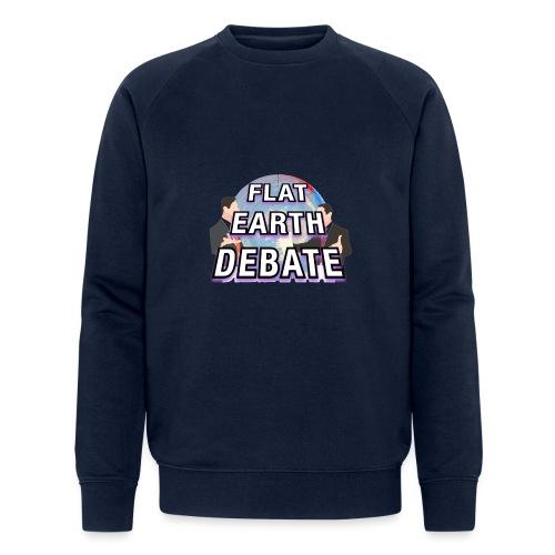Flat Earth Debate Solid - Men's Organic Sweatshirt by Stanley & Stella
