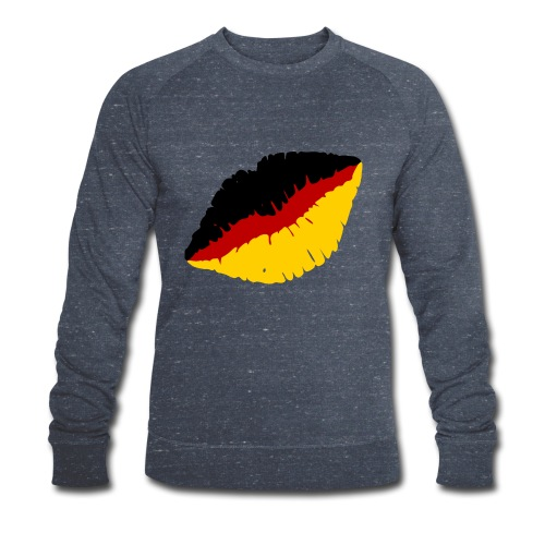 Deutschland Lippen Motiv - Männer Bio-Sweatshirt von Stanley & Stella