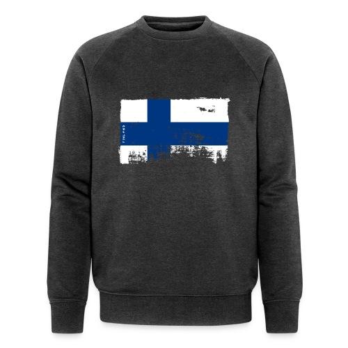 Suomen lippu, Finnish flag T-shirts 151 Products - Miesten luomucollegepaita