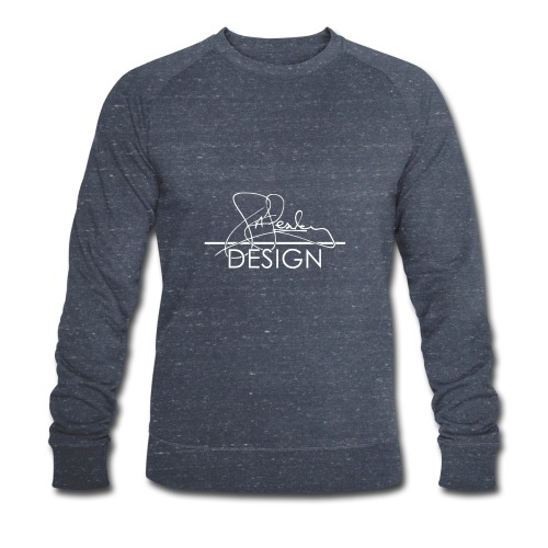 sasealey design logo wht png - Men's Organic Sweatshirt by Stanley & Stella