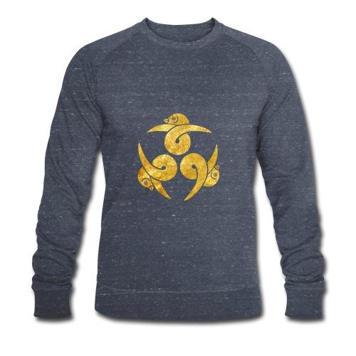 Three Geese Japanese Kamon in gold - Men's Organic Sweatshirt by Stanley & Stella