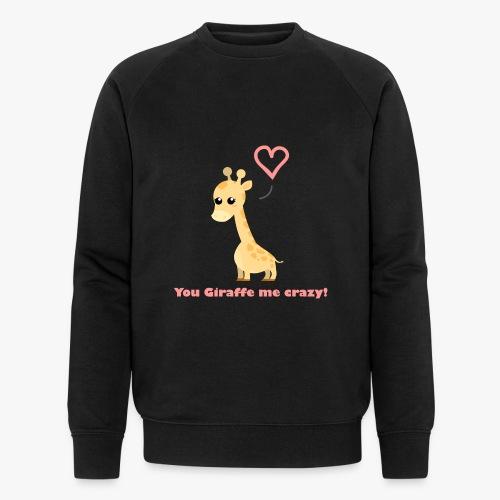 Giraffe Me Crazy - Økologisk Stanley & Stella sweatshirt til herrer