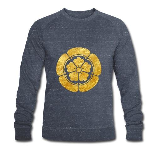 Oda Mon Japanese samurai clan faux gold on black - Men's Organic Sweatshirt
