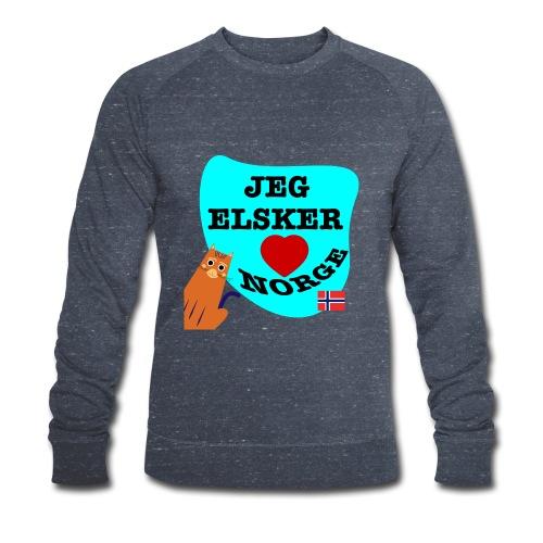 Jeg elsker Norge - Økologisk sweatshirt for menn fra Stanley & Stella