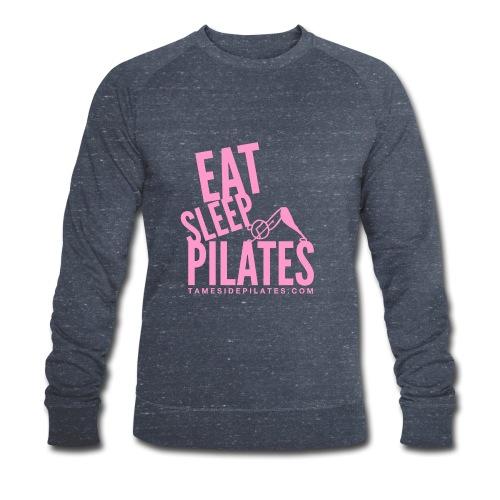 eat sleep pilates 2019 pink - Men's Organic Sweatshirt by Stanley & Stella