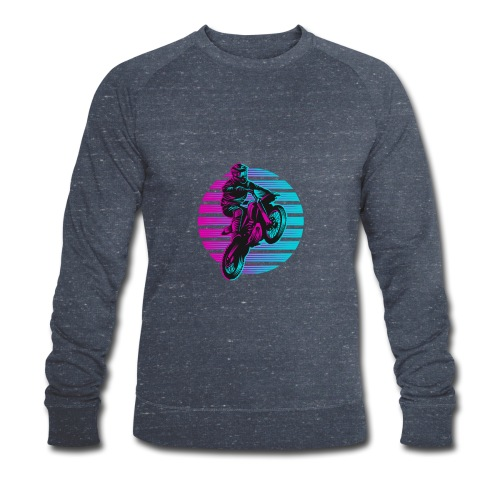 Motocross 2 colour - Männer Bio-Sweatshirt