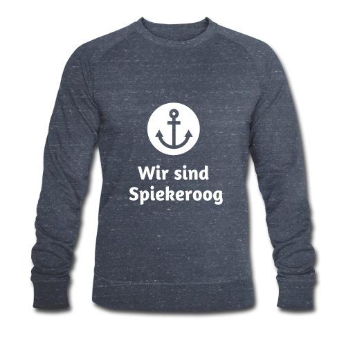 Wir sind Spiekeroog Logo weiss - Männer Bio-Sweatshirt