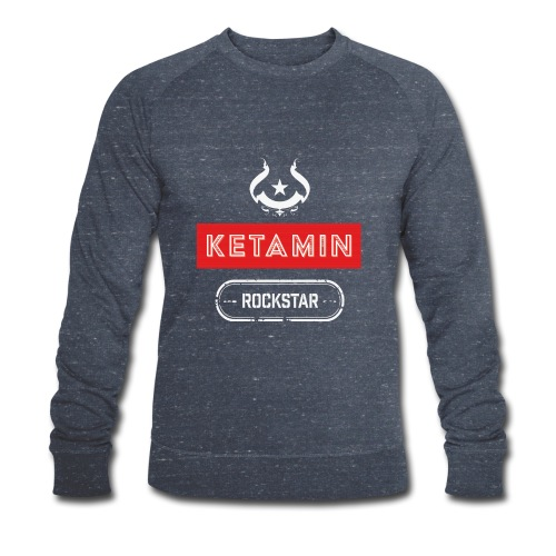 KETAMIN Rock Star - Weiß/Rot - Modern - Men's Organic Sweatshirt by Stanley & Stella