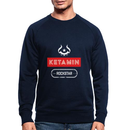 KETAMIN Rock Star - Weiß/Rot - Modern - Men's Organic Sweatshirt