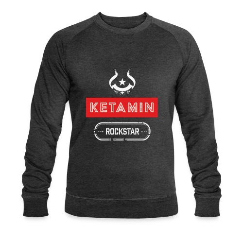 KETAMIN Rock Star - Weiß/Rot - Modern - Men's Organic Sweatshirt by Stanley & Stella