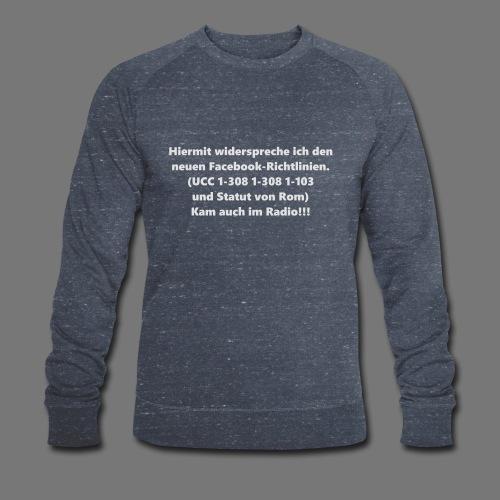 Facebook-AGB - Männer - Männer Bio-Sweatshirt