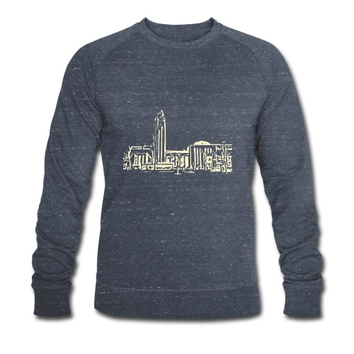 Helsinki railway station pattern trasparent beige - Men's Organic Sweatshirt