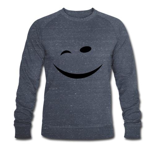 Zwinkersmiley - Männer Bio-Sweatshirt von Stanley & Stella