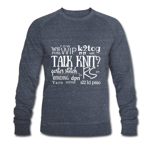 Talk Knit ?, white - Men's Organic Sweatshirt by Stanley & Stella