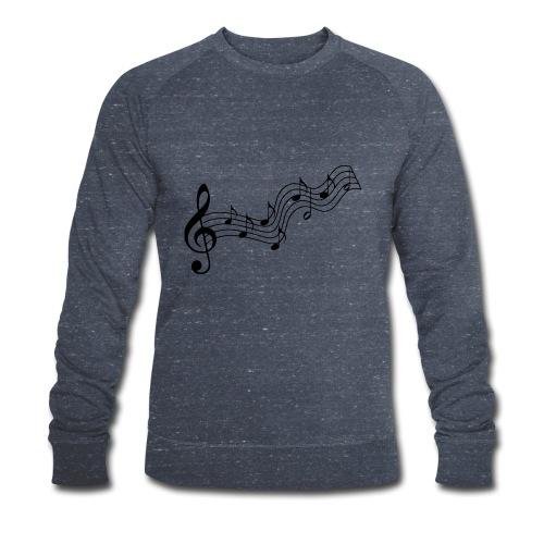 Musiknoten - Männer Bio-Sweatshirt von Stanley & Stella