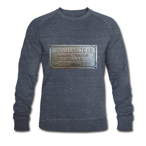 Tillverkningsskylt före 1967 - Ekologisk sweatshirt herr från Stanley & Stella