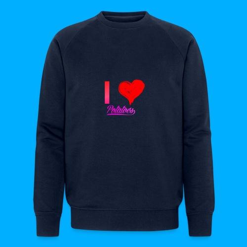 I Heart Potato T-Shirts - Men's Organic Sweatshirt by Stanley & Stella
