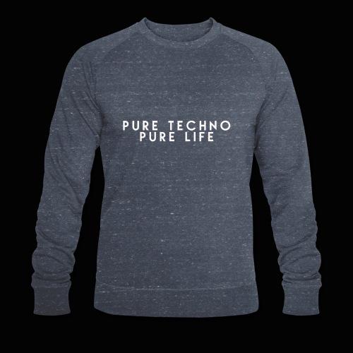 Pure Techno Pure Life White - Männer Bio-Sweatshirt von Stanley & Stella