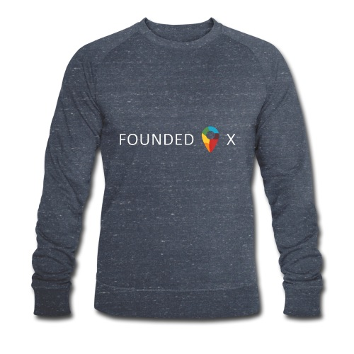 FoundedX logo white png - Men's Organic Sweatshirt by Stanley & Stella