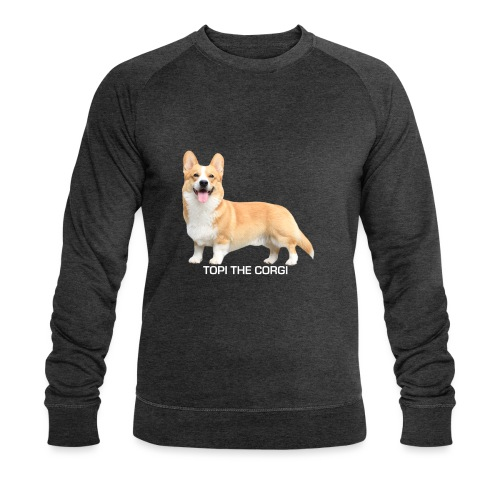 Topi the Corgi - White text - Men's Organic Sweatshirt