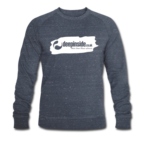deepinside world reference marker logo white - Men's Organic Sweatshirt by Stanley & Stella