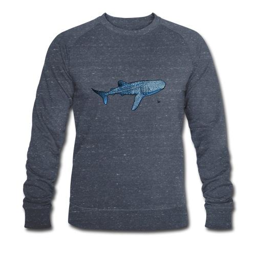 Whale shark - Økologisk sweatshirt for menn fra Stanley & Stella