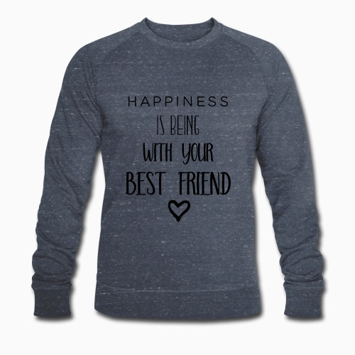 Happiness black edition - Men's Organic Sweatshirt by Stanley & Stella