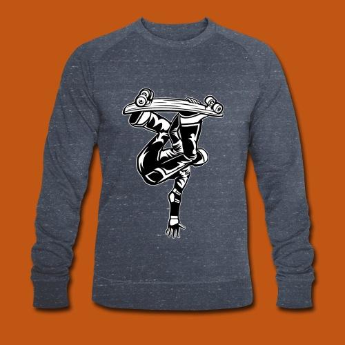 Skater / Skateboarder 03_schwarz weiß - Männer Bio-Sweatshirt von Stanley & Stella