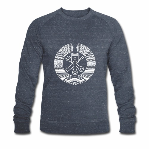 DDR Tuning Coat of Arms 1c (+ Your Text) - Men's Organic Sweatshirt by Stanley & Stella
