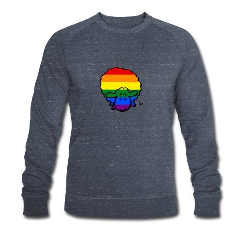 Rainbow Pride Sheep - Men's Organic Sweatshirt by Stanley & Stella