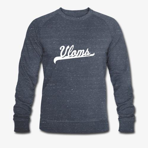Logo wit Vloms - Mannen bio sweatshirt