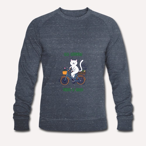 Caring About Climate Change? Go Green Ride A Bike - Men's Organic Sweatshirt by Stanley & Stella