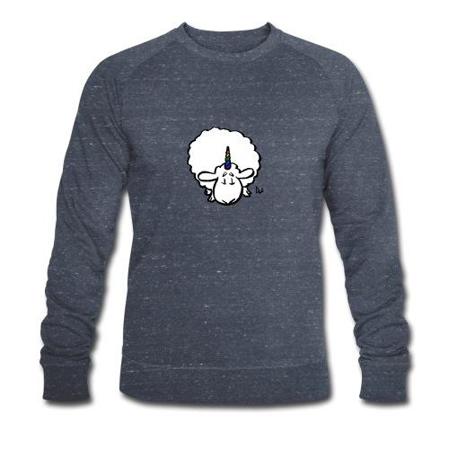 Ewenicorn - det er en regnbue-enhjørningssau! - Økologisk sweatshirt for menn fra Stanley & Stella