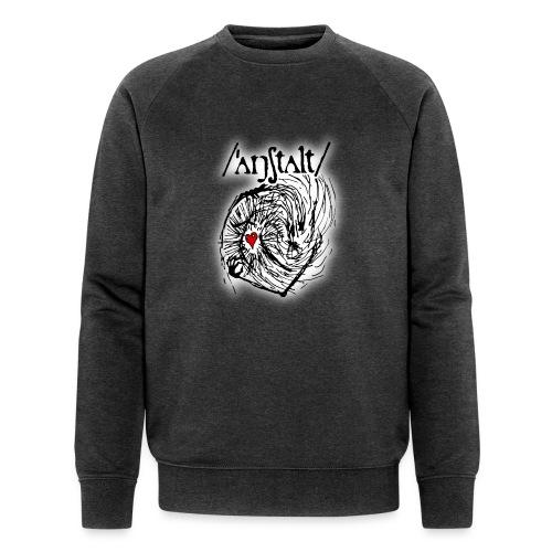 wesen mit herz und logo - Männer Bio-Sweatshirt