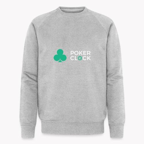 Poker Clock Logo - Männer Bio-Sweatshirt
