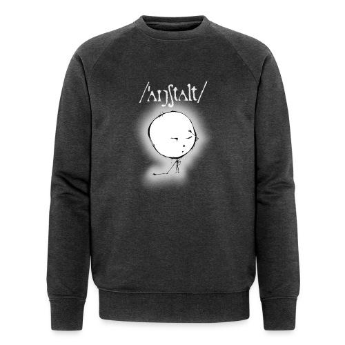 kreisling mit logo (weiß) - Männer Bio-Sweatshirt