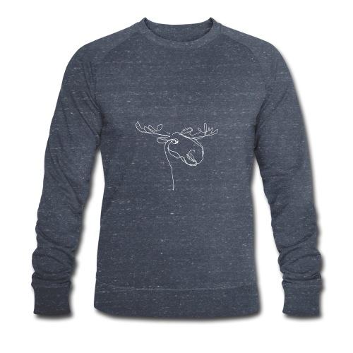 Elch weiss - Männer Bio-Sweatshirt von Stanley & Stella