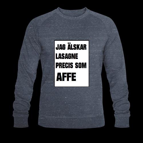 Affe älskar lasagne - Ekologisk sweatshirt herr från Stanley & Stella